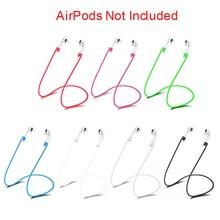 Original Anti Perdido Pulseira de Silicone Loop Cord String para i7s i8x i9s i10 tws iphone AirPods Acessórios Sem Fio do Fone De Ouvido Earpods
