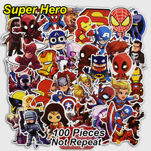 100 st Super Hero Graffiti Stickers för Laptop Skateboard Cyklar Bagage Bil Motorcykel Mode Vinyl Dekaler Fashion Sticker