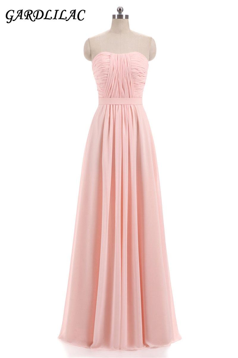 Nové růžové Lilac šifónové družičky šaty 2018 Plus velikost - Šaty pro svatební hostiny - Fotografie 2