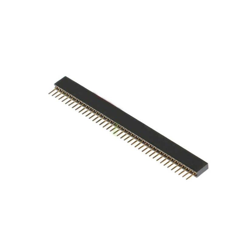 10 chiếc 5 đôi 40 Pin 1x40 Hàng Đơn Nam và Nữ 1.27 Vỡ Pin Đầu PCB JST cổng kết nối Dây cho Arduino Đen