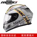 Мужской мотоциклетный шлем NENKI  черный мотоциклетный шлем с полным лицевым покрытием в стиле ретро  шлем для езды на мотоцикле