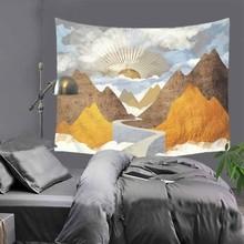 New Ins Popular patterns printed cartoon tapestry hippie mandala wall hanging Bohemian bedspread dorm decor 51x60 LZC2