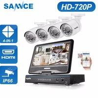 SANNCE 10 ЖК дисплей Мониторы DVR 4CH CCTV системы 4 шт. 1.0MP 1200TVL ИК Открытый безопасности камера дома товары теле и видеонаблюдения наборы 1 ТБ HDD