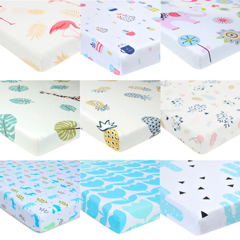 Comfortable Baby Mattress Cover Baby Fitted Sheet Print For Crib Customized Baby Crib Fitted Sheet Soft Baby Bed Sheet 130*70 baby bed mattress cover soft protector cartoon printed newborn baby bedding for cot 100% cotton crib fitted sheet size 130 70cm