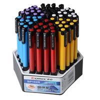 60 pcs Comix office supplies press blue ballpoint pen