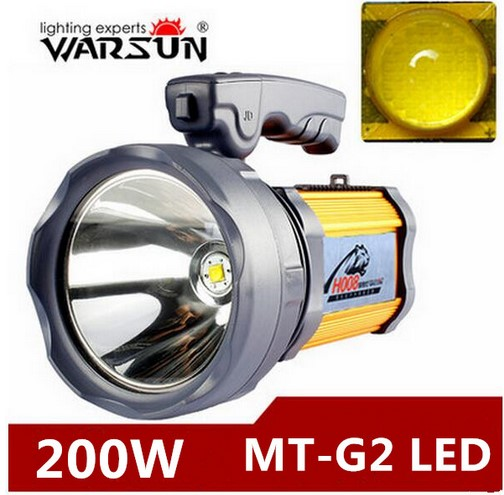 200w High power portable lantern rechargeable waterproof Searchlight Desk lamp side light US/EU charger Built-in battery