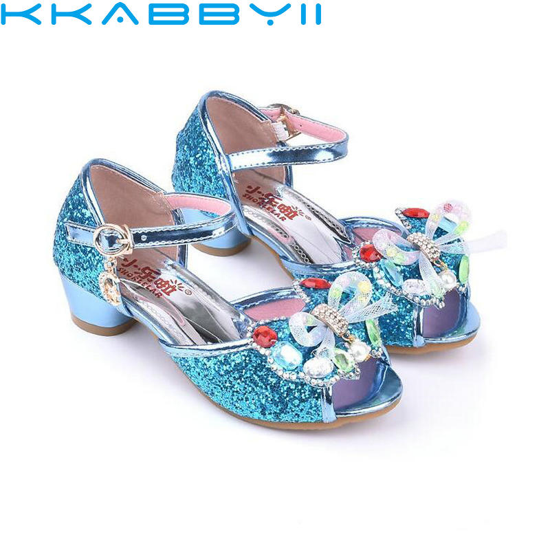 New Autumn Summer Children Shoes Girls Bow Beading Leather Low Heel Slip Sandals For Bab ...