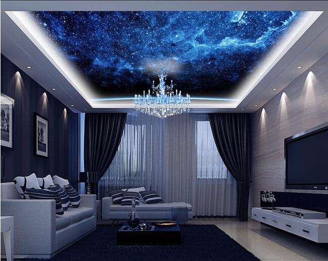 Custom wallpaper universe, stars used for the sitting room lie KTV ...