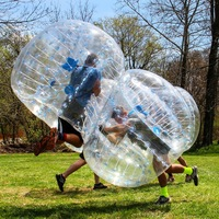 Durable 1.5m Inflatable Football Bubble Ball Bumper Ball Body Zorbing Bubble Soccer Human Bouncer Bubbleball Zorb Ball