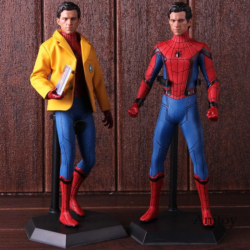 Szalone zabawki Spider Man Homecoming figurka Spiderman wersja Deluxe 1/6th skalę figurka kolekcjonerska Model zabawki w Figurki i postaci od Zabawki i hobby na AliExpress - 11.11_Double 11Singles' Day 1