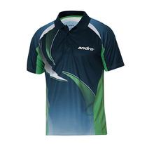 Nowe Andro wysokiej jakości tenis stołowy Koszulki treningowe T-shirty ping pong koszulki z krótkim rękawem Odzież Sportswear dla mężczyzn tanie tanio TIBHAR Pasuje do rozmiaru Weź swój normalny rozmiar 30236