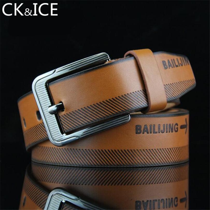 CK&ICE men's Imitation leather belt designer belts men luxury strap male belts for men fashion vintage pin buckle for jeans