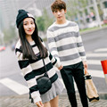 2017 Valentine's Day gift Men/Women Unisex Couple Casual Long Sleeved O-neck Pullover Loose Knitted Letter Printed Sweater