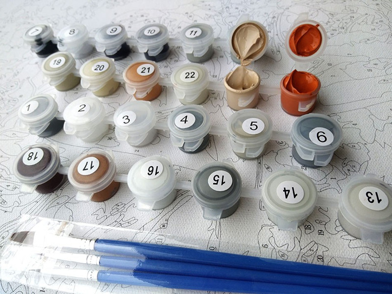 geekoplanet.com - Old Home - GeekoPicasso Paint-by-Number Kit