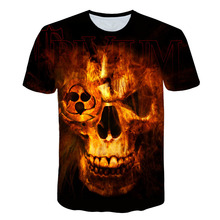 BIAOLUN 3d Skull T shirts Men 2019 HOT SALE Fashion Brand Mens Casual 3D Printed shirt Clothes Streetwear Tee 5XL