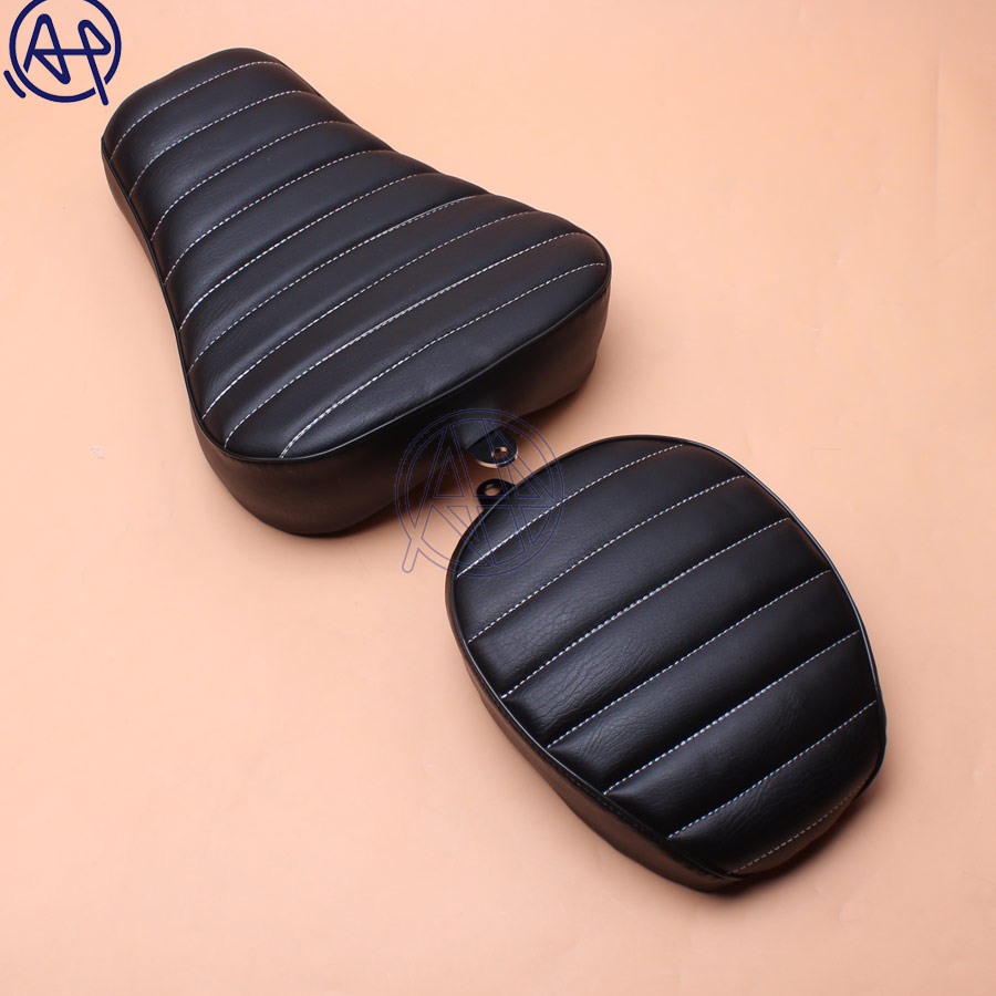 1x PU Motorcycle Front Driver+Rear Passenger Two Up Seat Sofa Tour Seat Bench Rear Cushion For Harley Sportster 883 1200 10-151x PU Motorcycle Front Driver+Rear Passenger Two Up Seat Sofa Tour Seat Bench Rear Cushion For Harley Sportster 883 1200 10-15