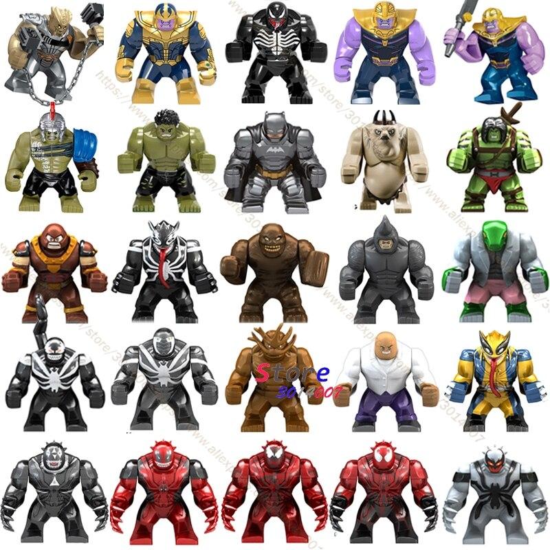 Single Big Size Marvel Venom Edward Brock Anti-venom Hulk Thanos Cull Obsidian Batman Bane Figure Models Building Blocks Toys
