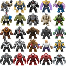 Unique Grande Taille Marvel Venom Edward Brock Anti-Venin Hulk Thanos Abattage Obsidienne Batman Bane Figure modèles Blocs de Construction jouets(China)