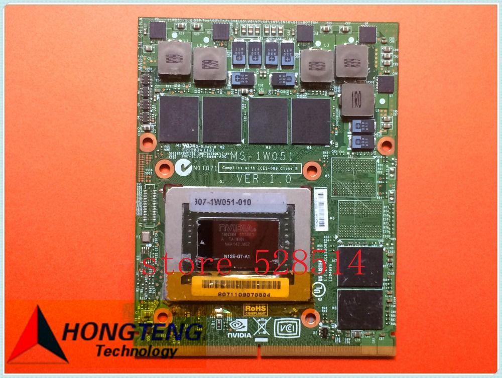 N12-GT-A1 GTX570M FOR MSI GT70 (MS-1762) MS-16F3 Graphics BOARD / Video Card BOARD MS-1W051 RVE: 1.0 fully tested