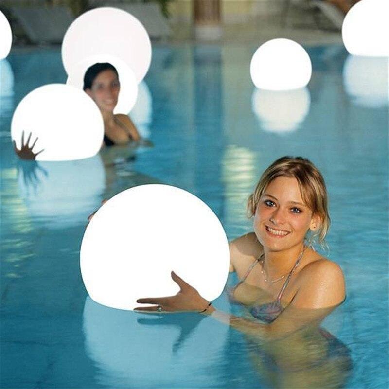 Su geçirmez led bahçe top lamba RGB sualtı ışığı IP68 Açık Noel Düğün Parti Çim Lambaları Yüzme Havuzu Yüzen