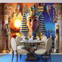 Wall Paper 3d Mural Decor Picture Backdrop Modern Egyptian Culture Ancient Civilization Art Restaurant Wall Painting