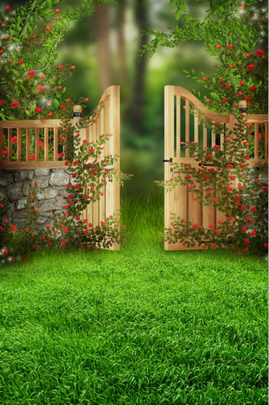 цены 8 ft fairy door vinyl print photography backdrops for children party photo studio portrait photographic backgrounds props F-807
