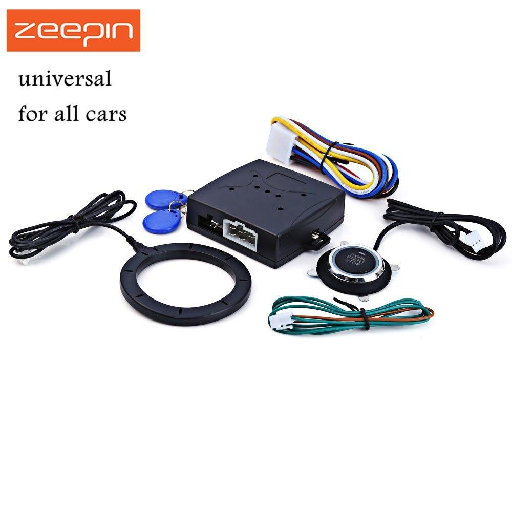 De la alarma del coche del motor del coche empuje botón RFID cerradura de encendido de entrada sin llave de arranque y parada inmovilizador Anti-robo sistema de