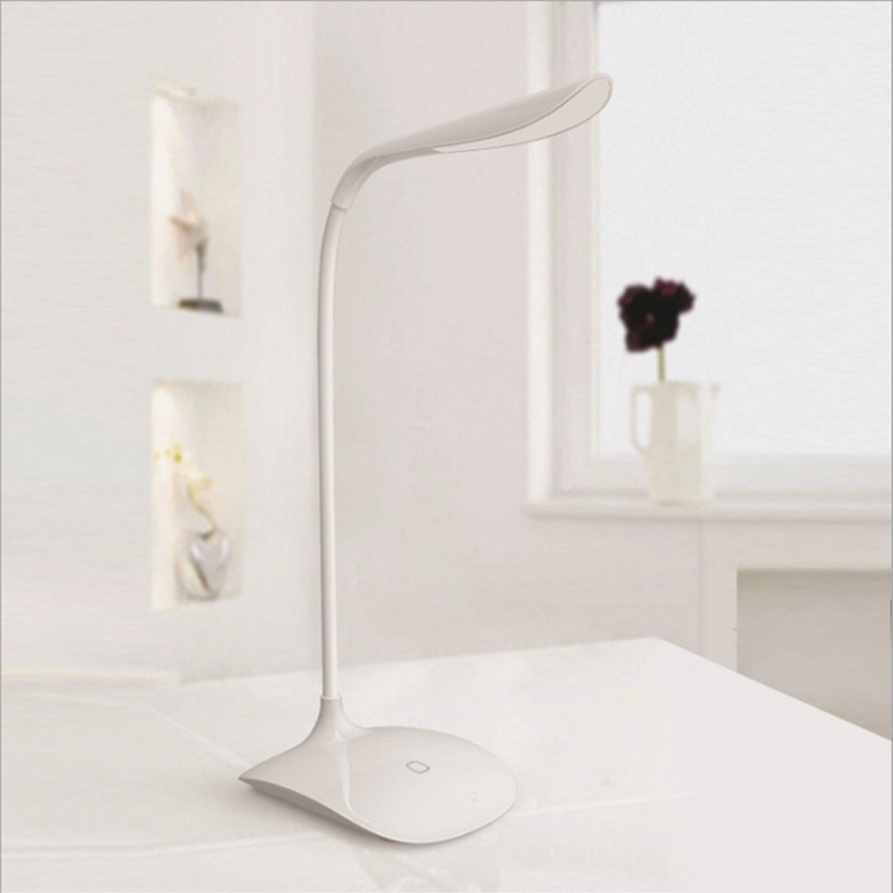 Original 5W USB Rechargeable LED Table Lamp Touch Sensor Cool White Led Reading Light Desk Beside Lamp White DC 5V 2018 On Sale цена