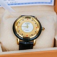 Натуральные часы Hotan Jades с драгоценным камнем, водонепроницаемые кварцевые часы для мужчин и женщин, Moyu, настоящий ремень, сертификат, часы GoldDiamond