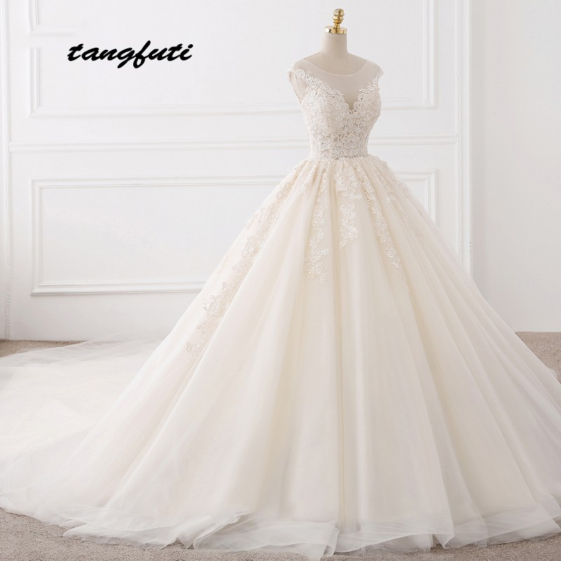 Robes de Mariée en dentelle Robe de Bal Longue Robes de Mariée de Mariage de Mariée Robes de Mariée robe de Mariée robes de novia 2018 Vintage