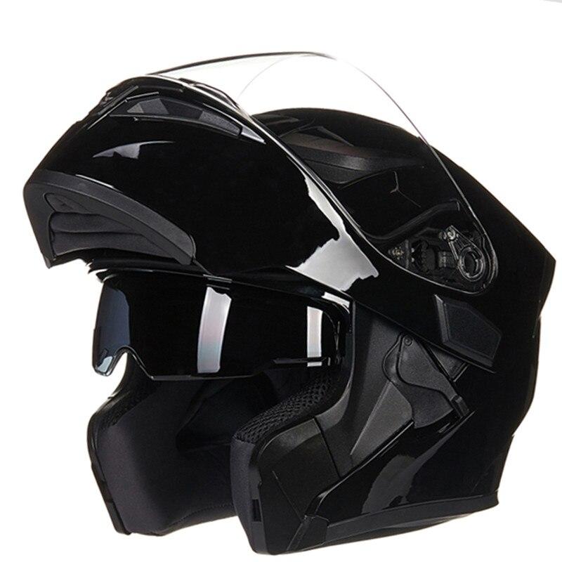 Moto Casque Mâle Femelle Quatre Saisons Capacete para motocicleta cascos para moto Flip Up Double Objectif Racing Casques