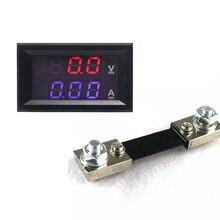 DC Voltmeter Ammeter DC 100V/100A Dual Display Panel Meter Volt Amp Meter with 100A/75mV Current Shunt