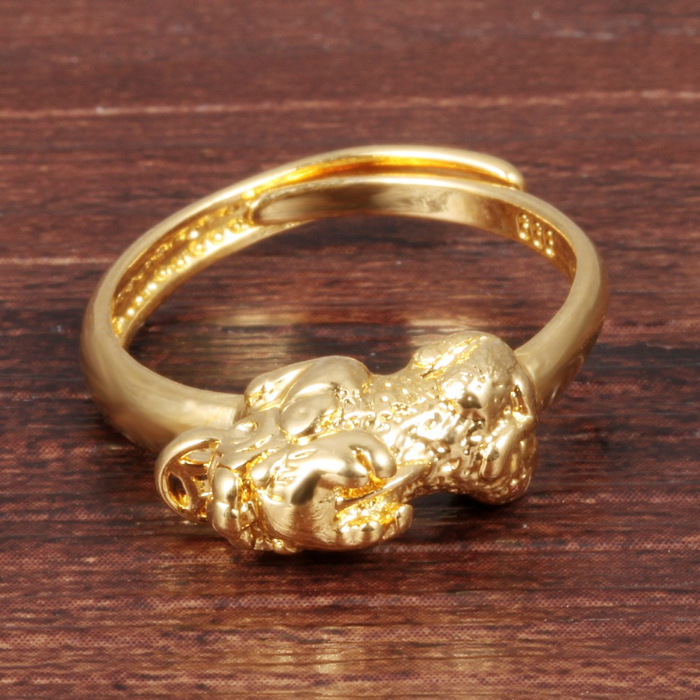 Open Rings for Women Gold Color Ring Animal Pi Xiu Jewelry Adjustable Wedding Rings Fashion Women Jewelry KJ029