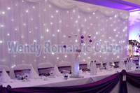 3M*6M White backdrop with led starlight wedding stage curtain Party Supply
