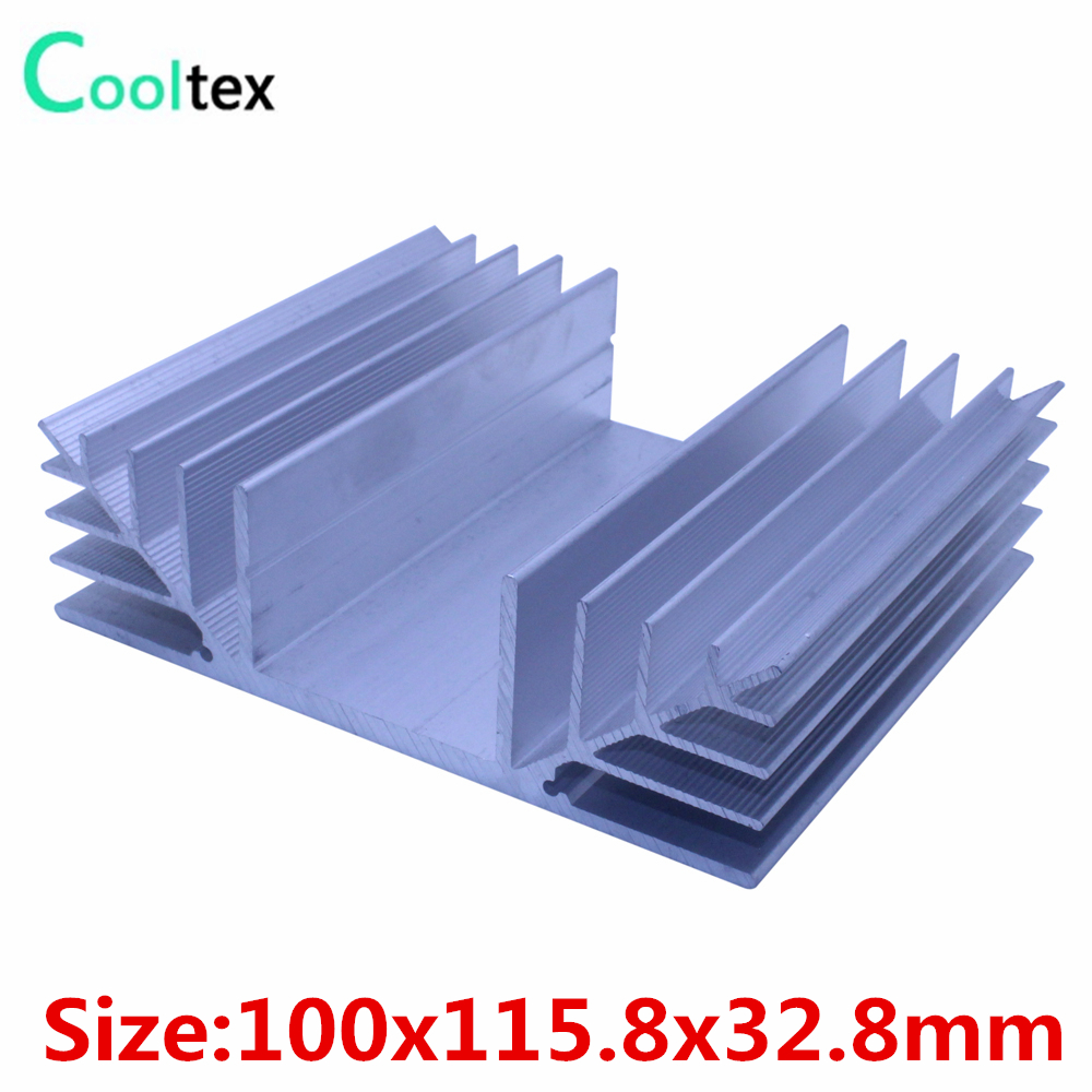 High quality  100x115.8x32.8mm radiator Aluminum heatsink Extruded  heat sink for power amplifier Electronic heat dissipation 5pcs lot pure copper broken groove memory mos radiator fin raspberry pi chip notebook radiator 14 14 4 0mm copper heatsink