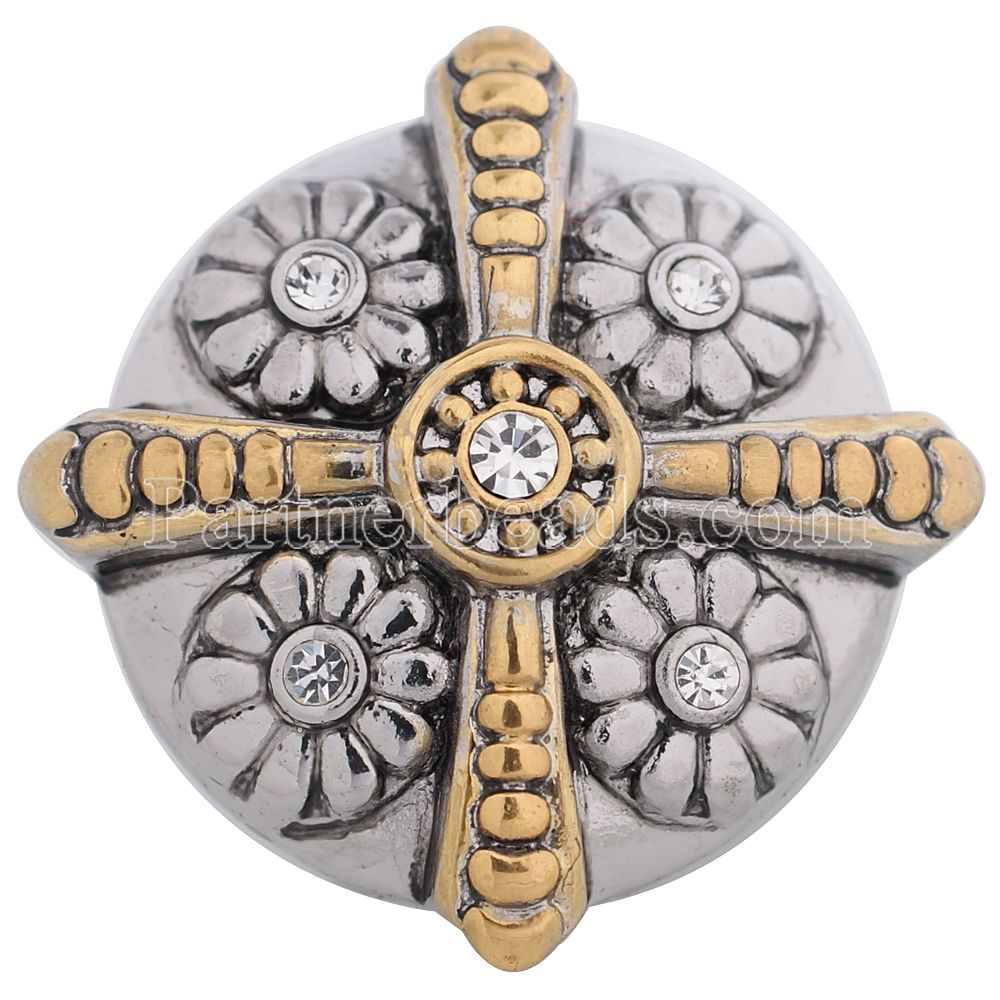 hot sale 20mm Cross metal button Interchangeable Ginger Snap Fit Button Snaps Bracelet or necklace Jewelry KC5178