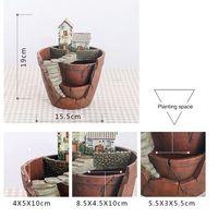 Creativo Micro Paesaggio Vaso di Fiori Appeso Disegno del Giardino Fiori Cesti Succulente Piante Casa Titolare Bonsai Vasi Da Giardino
