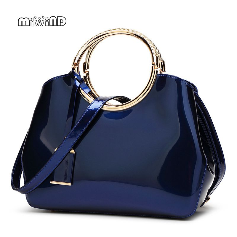 2018 High Quality Patent Leather Women Bag Ladies Cross Body Messenger Shoulder Bags Handbags Women Famous Brands Bolsa Feminina women peekaboo bags flowers high quality split leather messenger bag shoulder mini handbags tote famous brands designer bolsa