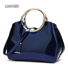 цена на 2017 High Quality Patent Leather Women Bag Ladies Cross Body Messenger Shoulder Bags Handbags Women Famous Brands Bolsa Feminina