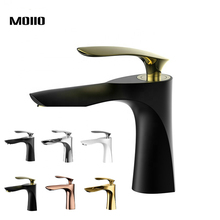 MOIIO black and GOLD/Chrome Basin Faucet Torneira Leaf shape Bathroom sink faucet  variety color options luxury designer plates