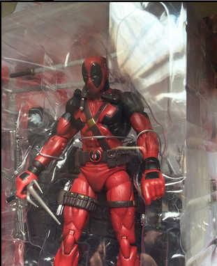 Deadpool Marvel Select Figura Super Hero Action Figure Com Edição Especial de Parede Brinquedo 18 cm