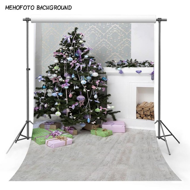 MEHOFOTO 5X7FT Photography Background Christmas Theme Brick Wall - christmas theme background