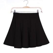 Falda de cintura alta elástica para mujer, minifalda Sexy, faldas de caída, falda de tutú con pliegues, B5