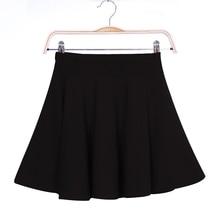 Vente chaude nouvelles femmes jupe Sexy Mini jupe courte automne jupes femmes Stretch taille haute plissée Tutu jupe B5