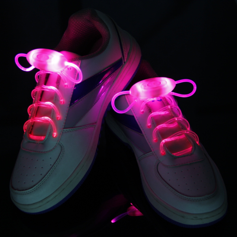 LED Shoelaces Flash Light Up Glow Stick Strap Shoe Laces Disco Party Hot/80cm 1 pair led sport shoe laces flash light glow stick strap shoelaces blue pink green yellow worldwide sale