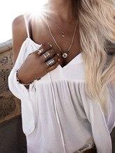 Сексуальная ремень с открытыми плечами белый Шифоновая блузка плюс Размеры Белый с длинным рукавом рюшами Свободные Boho Beach Пуловеры для женщин blusas