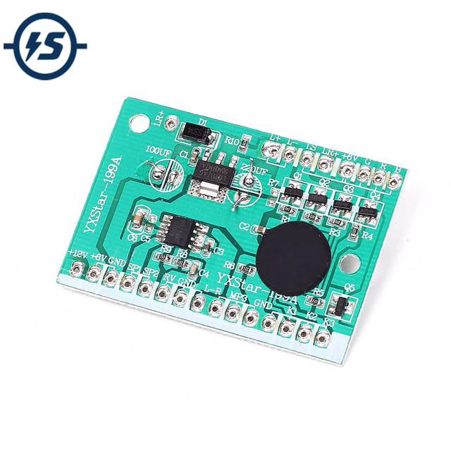 US $2 18 |6V Music Chip Voice Sound Module DJ Song PCB Speaker Circuit  Board For Baby Motorcycle Children's Car Stroller-in Integrated Circuits  from