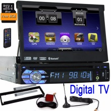 Una din simple din car Radio reproductor de DVD de coches navegación GPS Autoradio Audio estéreo MP5 1 din sistema TV Digital RDS FM accesorio