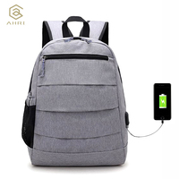 AHRI New Men Backpack For 14 Inches Laptop Backpack Large Capacity Student Backpacks Casual Style Bag
