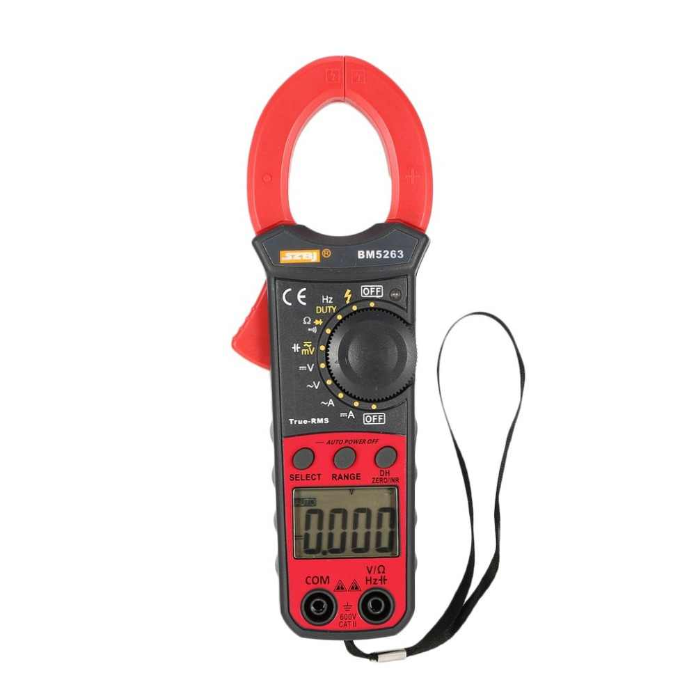 Digital Clamp Meter Multimeter True RMS Auto Range AC/DC Volt Amp Ohm Capacitance Frequency Diode NCV Tester Buzzer 3999 Counts